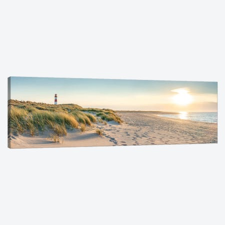 Sunset Panorama At The Dune Beach, Sylt, Schleswig-Holstein, Germany Canvas Print #JNB318} by Jan Becke Canvas Art Print