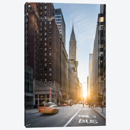 Fifth Avenue With Chrysler Building Canvas Print #JNB31} by Jan Becke Canvas Wall Art