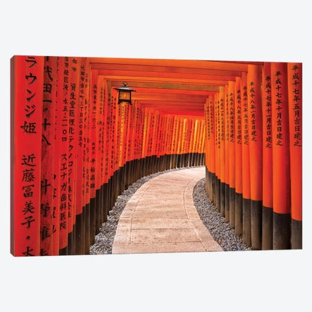 Fushimi Inari Taisha Shrine In Kyoto Canvas Print #JNB32} by Jan Becke Canvas Artwork