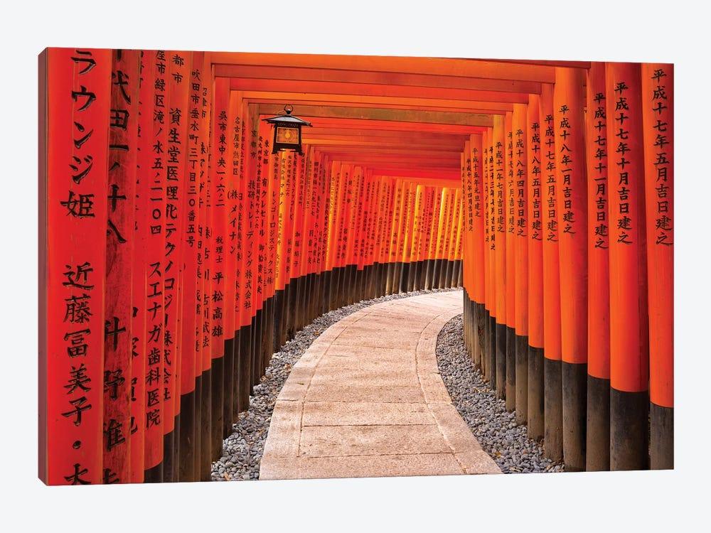 Fushimi Inari Taisha Shrine In Kyoto by Jan Becke 1-piece Canvas Wall Art