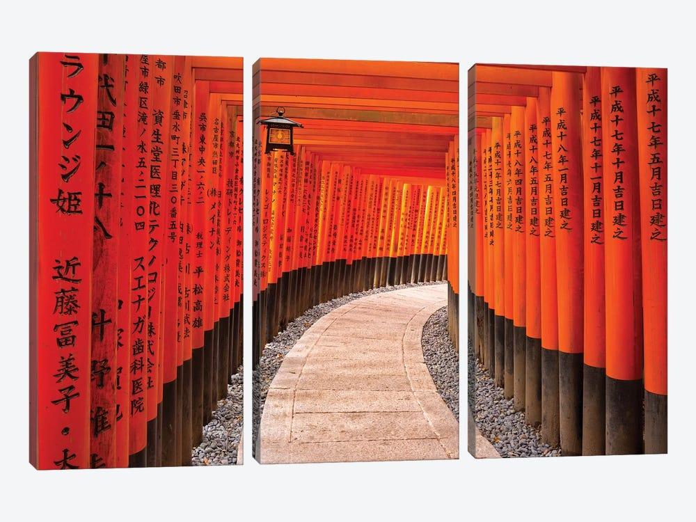 Fushimi Inari Taisha Shrine In Kyoto by Jan Becke 3-piece Canvas Artwork