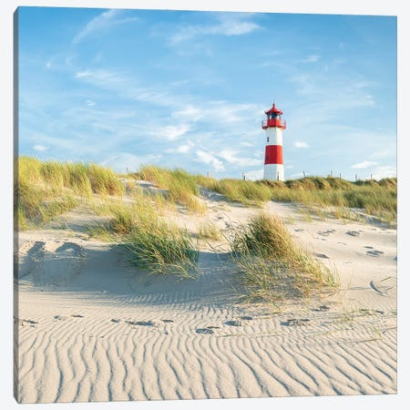 Lighthouse List Ost On The Island Of Sylt, Schleswig-Holstein, Germany Canvas Print #JNB331} by Jan Becke Canvas Art Print