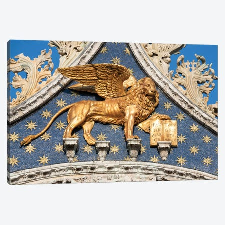 Golden Lion Of Saint Mark Canvas Print #JNB34} by Jan Becke Canvas Art Print