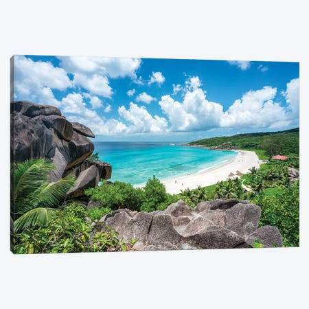 Grand Anse On La Digue Canvas Print #JNB38} by Jan Becke Canvas Art