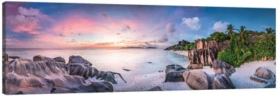 Anse Source D'Argent Panorama Canvas Art Print
