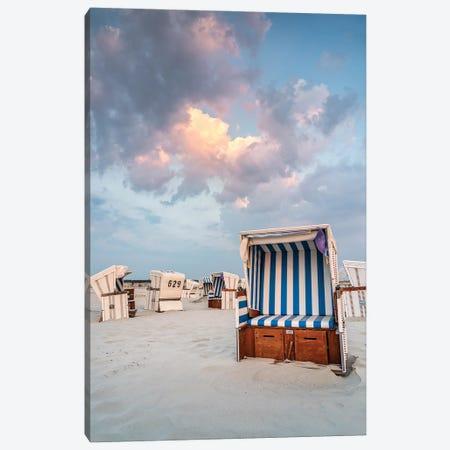 Beach Chairs At The North Sea Coast Canvas Print #JNB408} by Jan Becke Art Print