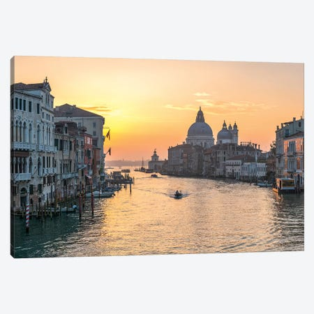 Grand Canal At Sunrise I Canvas Print #JNB40} by Jan Becke Canvas Art Print