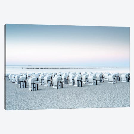 Beach Chairs At The Baltic Coast On The Island Of Rügen Canvas Print #JNB410} by Jan Becke Canvas Wall Art