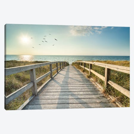 Summer Vacation At The North Sea Coast, Germany Canvas Print #JNB415} by Jan Becke Canvas Art Print