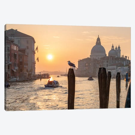 Grand Canal At Sunrise II Canvas Print #JNB41} by Jan Becke Canvas Art Print