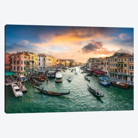Grand Canal At Sunset Canvas Print #JNB42} by Jan Becke Canvas Print