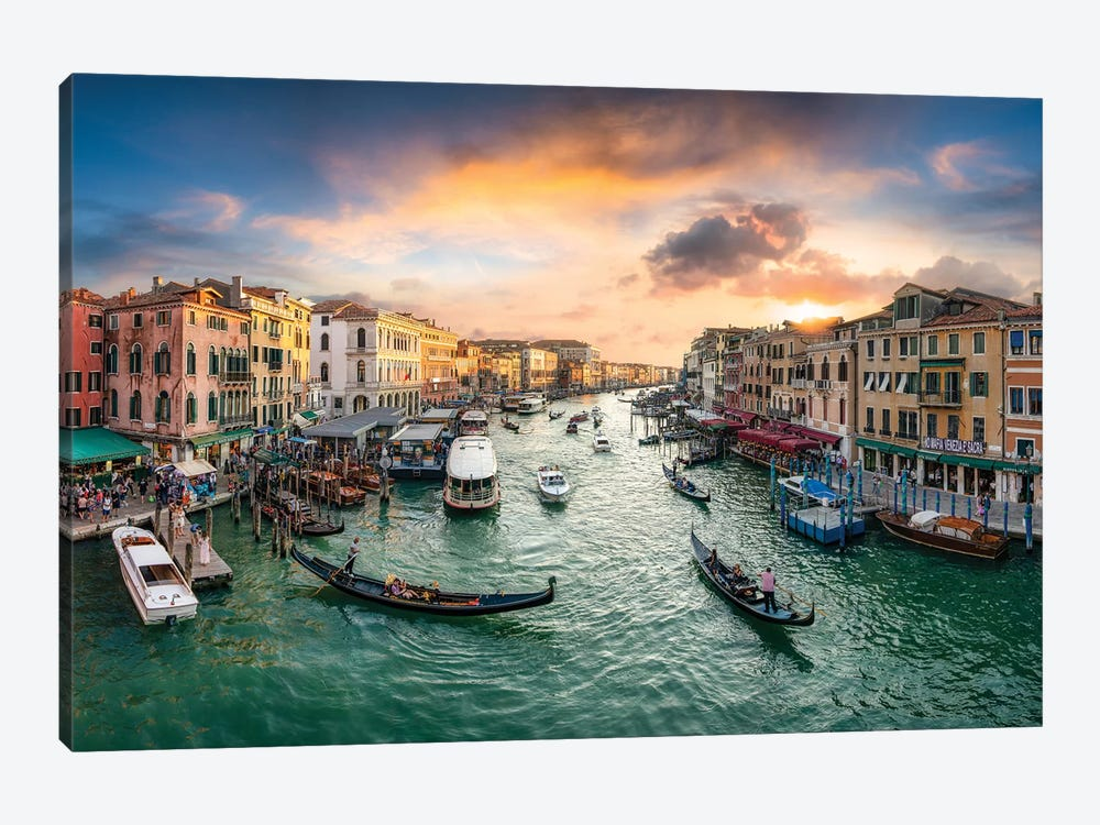 Grand Canal At Sunset by Jan Becke 1-piece Canvas Print