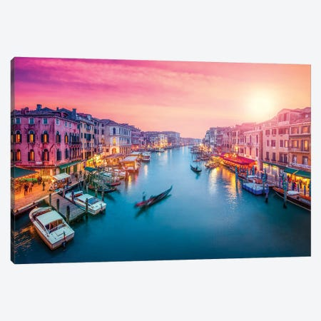 Grand Canal At Sunset, Venice, Italy Canvas Print #JNB43} by Jan Becke Canvas Art Print