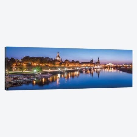 Dresden skyline panorama at night Canvas Print #JNB442} by Jan Becke Canvas Print
