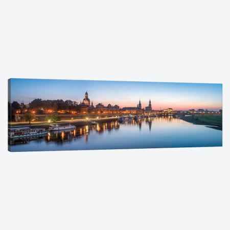 Dresden skyline panorama along the Elbe River Canvas Print #JNB444} by Jan Becke Canvas Wall Art