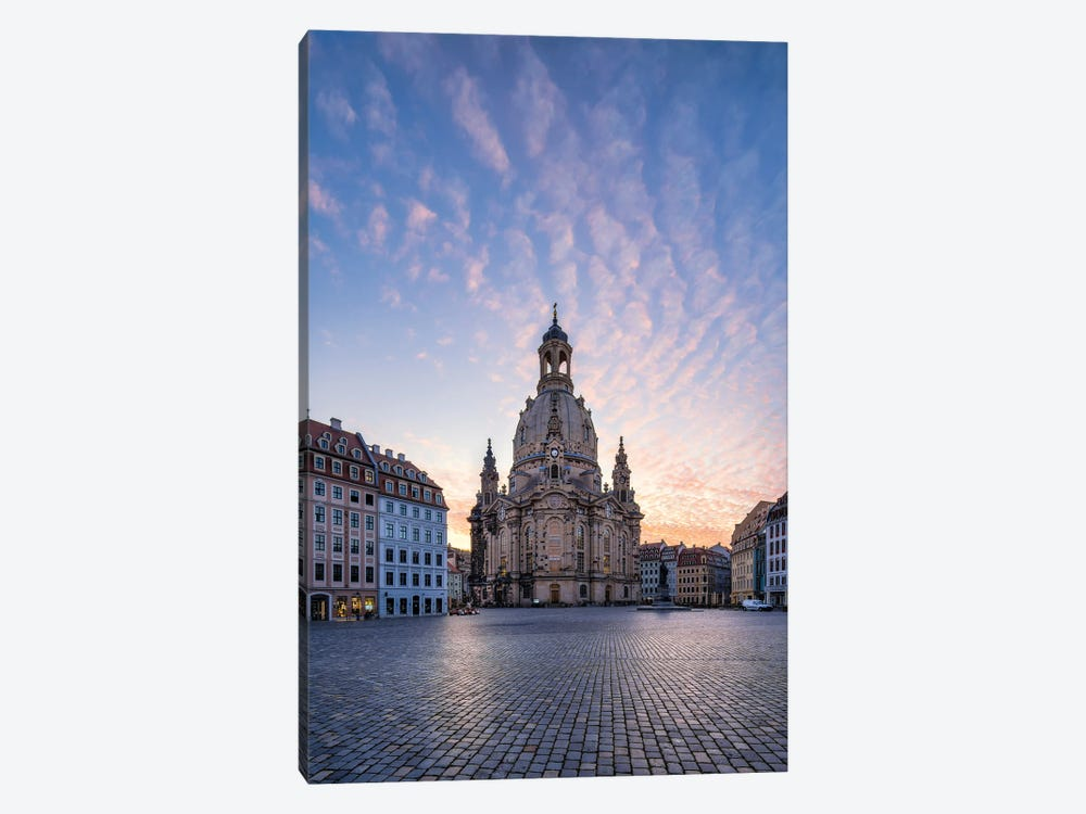 Dresden Frauenkirche (Church of Our Lady) at sunrise, Saxony, Germany by Jan Becke 1-piece Canvas Art