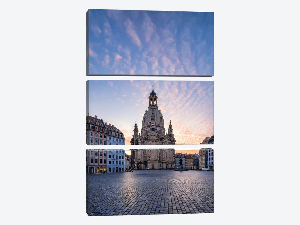 Dresden Frauenkirche (Church of Our Lady) at sunrise, Saxony, Germany by Jan Becke 3-piece Canvas Art