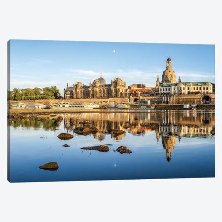 Dresden skyline with Frauenkirche, Saxony, Germany Canvas Print #JNB454} by Jan Becke Canvas Print