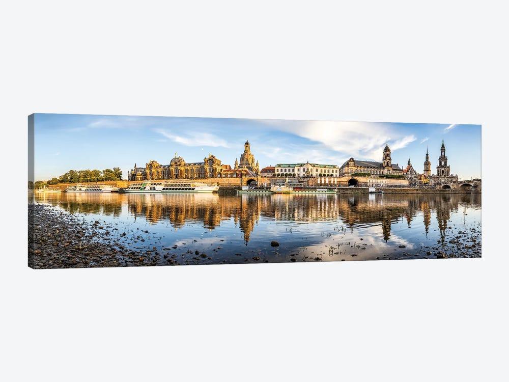 Dresden skyline panorama along the Elbe River, Saxony, Germany by Jan Becke 1-piece Art Print