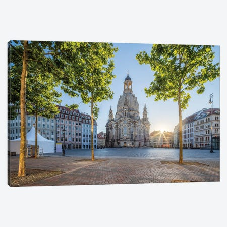 Neumarkt square and Frauenkirche in Dresden, Saxony, Germany Canvas Print #JNB475} by Jan Becke Art Print