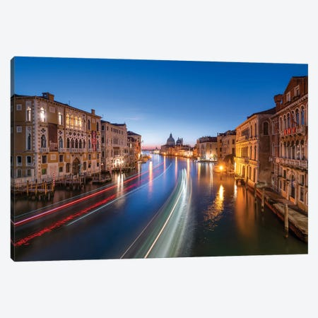 Grand Canal In Venice Canvas Print #JNB47} by Jan Becke Canvas Wall Art