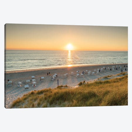 Sunset at the Rotes Kliff (Red Cliff), Sylt, Schleswig-Holstein, Germany Canvas Print #JNB481} by Jan Becke Art Print