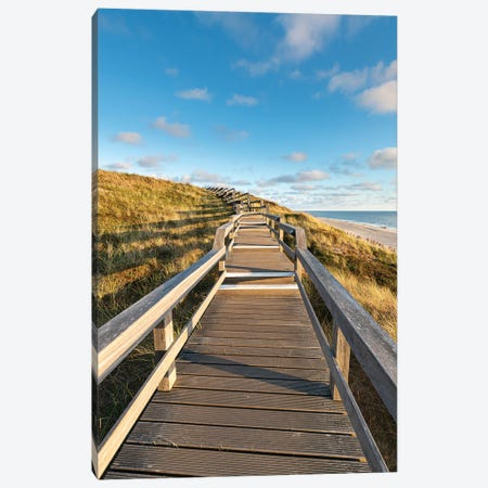 Boardwalk along the beach, Sylt, Schleswig-Holstein, Germany Canvas Print #JNB484} by Jan Becke Canvas Art