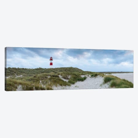 Panoramic view of the lighthouse List Ost, Sylt, Schleswig-Holstein, Germany Canvas Print #JNB496} by Jan Becke Art Print