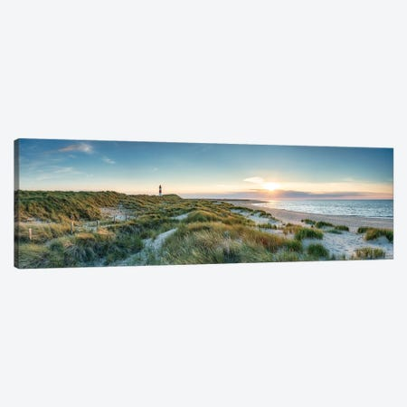 Sunset at the dune beach on the island of Sylt, Schleswig-Holstein, Germany Canvas Print #JNB498} by Jan Becke Canvas Wall Art