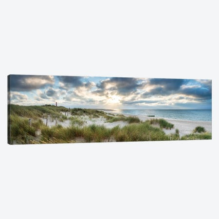 Dune beach panorama on the island Sylt, Schleswig-Holstein, Germany Canvas Print #JNB499} by Jan Becke Canvas Wall Art
