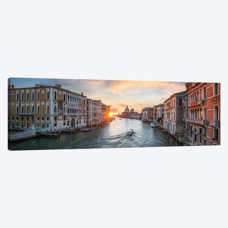 Grand Canal Panorama In Venice, Italy Canvas Print #JNB49} by Jan Becke Canvas Print