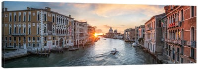Grand Canal Panorama In Venice, Italy Canvas Art Print