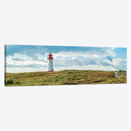 Panoramic view of the lighthouse List West, Sylt, Schleswig-Holstein, Germany Canvas Print #JNB506} by Jan Becke Canvas Art Print