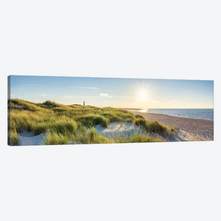 Sunset at the dune beach, North Sea coast, Sylt, Schleswig-Holstein, Germany Canvas Print #JNB514} by Jan Becke Canvas Wall Art