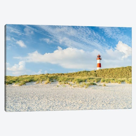 Lighthouse List Ost at the dune beach, Sylt, Schleswig-Holstein, Germany Canvas Print #JNB515} by Jan Becke Canvas Art