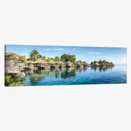 Overwater Bungalows at a luxury beach resort on Moorea, French Polynesia Canvas Print #JNB518} by Jan Becke Art Print