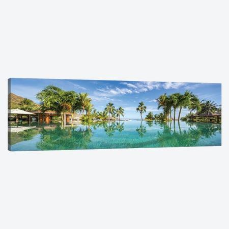 Infinity pool at a luxury beach resort on Tahiti, French Polynesia Canvas Print #JNB520} by Jan Becke Canvas Artwork