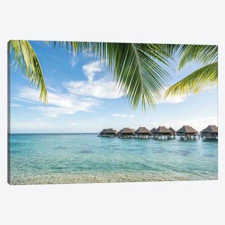Luxury beach resort on the island of Moorea, French Polynesia Canvas Print #JNB521} by Jan Becke Canvas Wall Art