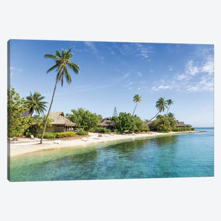 Tropical beach on Moorea, French Polynesia Canvas Print #JNB523} by Jan Becke Canvas Wall Art