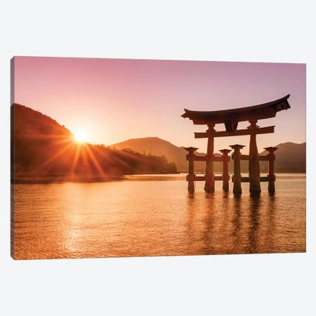 Great Torii Of Miyajima Canvas Print #JNB52} by Jan Becke Canvas Artwork