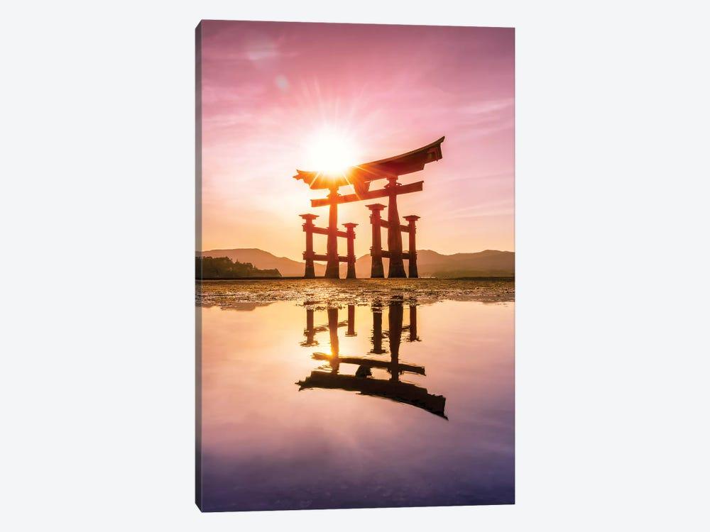 Great Torii Of Miyajima At Sunset by Jan Becke 1-piece Art Print