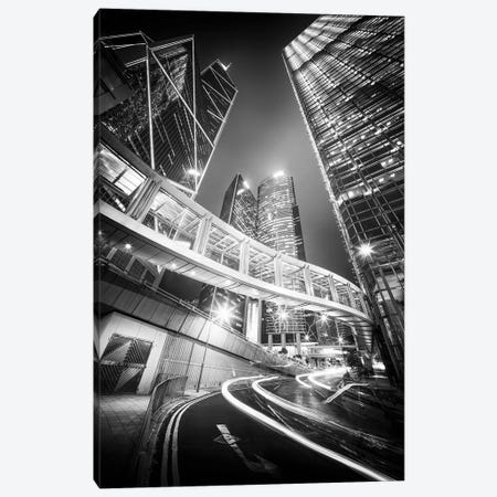 Hong Kong Central in black and white Canvas Print #JNB549} by Jan Becke Canvas Artwork