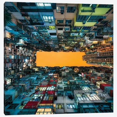 Apartment buildings at Quarry Bay, Kowloon, Hong Kong, China Canvas Print #JNB553} by Jan Becke Canvas Print