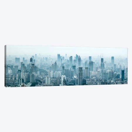Shanghai skyline panorama Canvas Print #JNB555} by Jan Becke Canvas Artwork