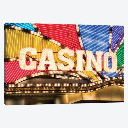 Casino sign Canvas Print #JNB561} by Jan Becke Canvas Wall Art