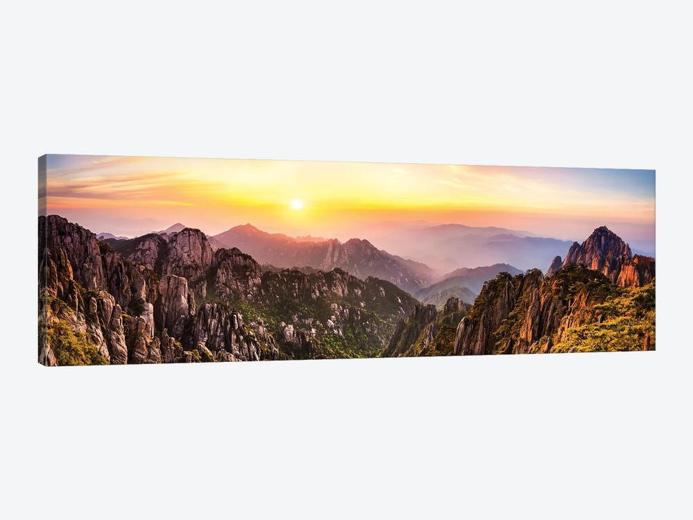 Huangshan also known as the Yellow mountain, Anhui Province, China by Jan Becke 1-piece Canvas Print