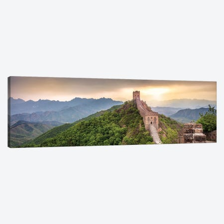 Jinshanling section of the Great Wall of China Canvas Print #JNB567} by Jan Becke Canvas Art Print