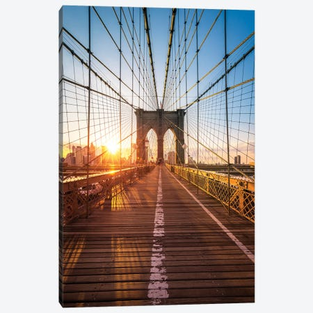 Brooklyn Bridge, New York City, USA Canvas Print #JNB572} by Jan Becke Canvas Print