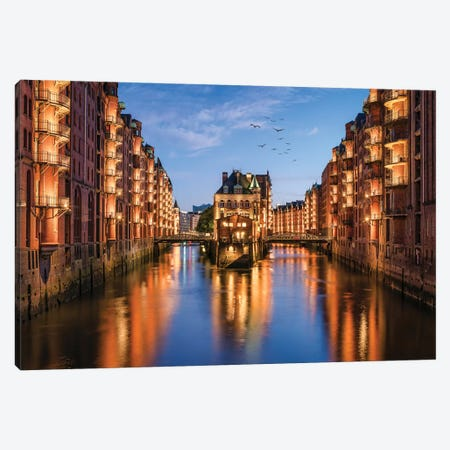 Hamburg Speicherstadt Canvas Print #JNB57} by Jan Becke Canvas Art Print