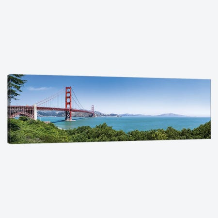 Panoramic view of the Golden Gate Bridge, San Francisco, USA Canvas Print #JNB586} by Jan Becke Art Print